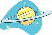 Retro Planet Saturn