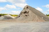 Large pile of gravel