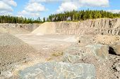 stock photo of porphyry  - A quarry where porphyry and diabase is taken to make gravel and filling mass - JPG