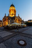 German Cathedral On Gendarmenmarkt Square In The Evening, Berlin, Germany