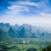 Guilin Hills,beautiful Karst Mountain Landscape