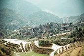 Chinese Terraces And Ethnic Minority Village