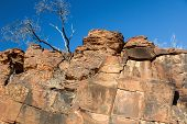 Chambers Gorge Aboriginal Engraving Site. Flinders Ranges. South Australia