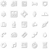 White Minimalist Icon Set