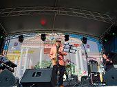 MOSCOW - SEPTEMBER 7: Saxophonist Aleksej Kozlov performs at Usadba Jazz Festival in Kuskovo Mansion