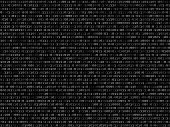 image of blinking  - Blink binary code screen listing table on black background - JPG