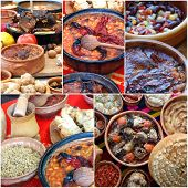 collage of traditional macedonian food