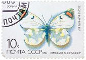 Stamp From The Ussr (scott 2008 Catalog Number 5437) Shows Image Of A Sooty Orange Tip Butterfly (ze