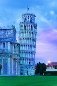 Evening Night Dusk In Pisa
