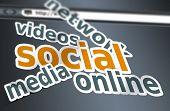 Social Media Concept Words