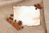 Vintage Sheet Paper With Spice