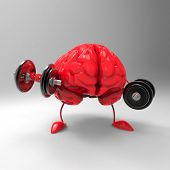image of weight lifter  - Strong brain - JPG