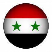 Syria Flag Button.