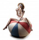 girl on ball