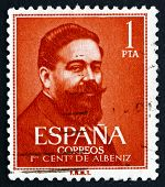 Postage Stamp Spain 1960 Isaac Albeniz, Spanish Composer