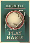 Baseball poster with retro design. Vector illustration.