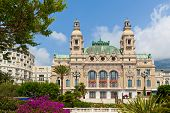 MONTE CARLO, MONACO - JULY 13, 2013: Salle Garnie - gambling and entertainment complex designed by Charles Garnier, opened in 1879, includes Casino and opera house in Monte Carlo, Monaco.