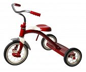 foto of tricycle  - red tricycle - JPG