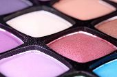 Make-up Eyeshadows Macro Shot