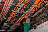 stock photo of retarded  - Test for halogen free and fire resistant cables  - JPG