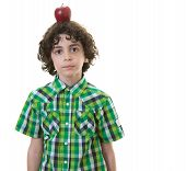 Child With Apple In His Head