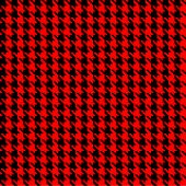 Red And Black Hounds Tooth Check Fabric
