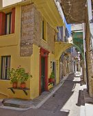 picturesque alley , Chios island Greece