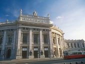 The Burgtheater Imperial Court Theater. Vienna, Austria.