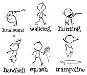 Illustration of the different sports on a white background