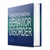 stock photo of inappropriate  - Illustration depicting a text book with a behavior disorder concept title - JPG