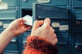 picture of postbox  - Closeup on a woman - JPG