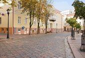 Old Small Street In Grodno, Belarus