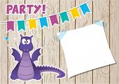 image of ogre  - Monster dragon party card - JPG