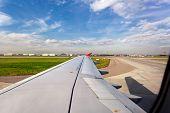 Airplane On Landing Strip