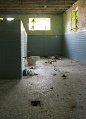 Abandoned Schoolhouse Locker Room