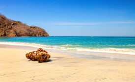 stock photo of papagayo  - Scenic view of the beach along the Golfo de Papagayo in Guanacaste Costa Rica