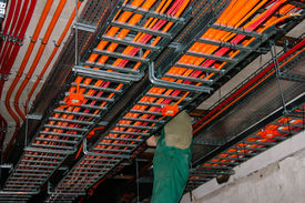picture of retarded  - Test for halogen free and fire resistant cables