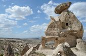 Ancient Stone Dwellings In Cappadocia