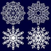 Decorative abstract snowflake. Vector illustration