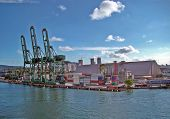 View From The Port Of The City Of Santos In Brazil