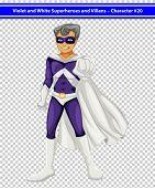 Illustration of a male superhero