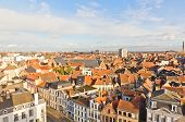 View Of Ghent Town From Gravensteen Castle. Belgium