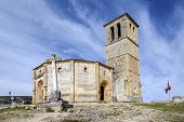 stock photo of templar  - Veracruz medieval church ancient templar church in Segovia Spain - JPG