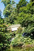 Arched Plaster Bridge In Public Garden