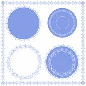 set of circular  and square ornaments