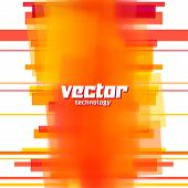 Vector background with orange blurred lines