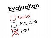 Red Cross On Evaluation Check Box