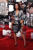 LOS ANGELES - APR 13:  Kat Graham arrives to the 2014 MTV Movie Awards  on April 13, 2014 in Los Angeles, CA.