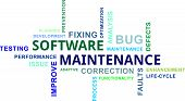 word cloud - software maintenance