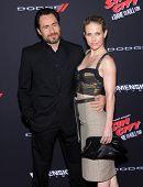 LOS ANGELES - AUG 19:  Demian Bichir & Stefanie Sherk arrives to the
